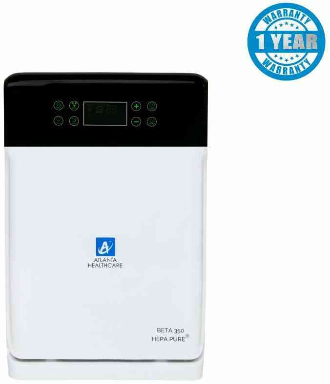 Atlanta Healthcare Beta 350 43-Watt Air Purifier with HEPA Pure & Viral Guard Technology (White) – with Remote Control 1